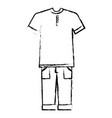 casual and youth male clothing vector image