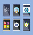 collection mobile web applications and services vector image