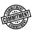 commitment round grunge black stamp vector image vector image