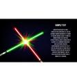 Crossed light swords background vector image vector image
