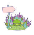 cute toad in the landscape character vector image