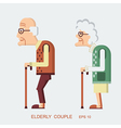Elderly people vector image vector image