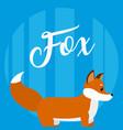 fox cute animal cartoon vector image vector image