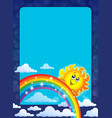 frame with happy sun vector image vector image