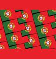 grunge portugal flag or banner vector image vector image