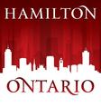 Hamilton Ontario Canada city skyline silhouette vector image vector image