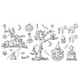 hand drawn doodle cartoon elements of halloween vector image