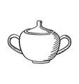 hand drawn sugar bowl vector image