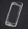 Handdrawn sketch of mobile phone with shadow on vector image vector image