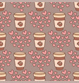 heart sharp seamless pattern background vector image