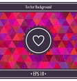 Heart Triangles Geometric Background vector image vector image