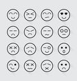 Human emotion icons long shadow set vector image