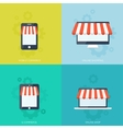 Internet shopping concept E-commerce Online vector image vector image