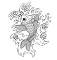 koi carp traditional japonese tattoo flash tattoo vector image