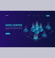 landing page isometric data center concept vector image
