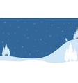 Landscape on the hill winter Christmas vector image vector image