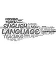 learn to teach english as a foreign language text vector image vector image