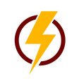 lightning bolt icon stock vector image vector image