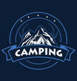 logo mountain adventure camping vector image