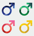 male symbol icon Abstract Triangle vector image vector image