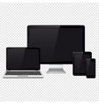 modern digital devices isolated on transparent vector image vector image