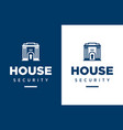 modern professional logo house security in vector image vector image