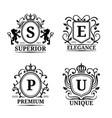 monogram logo templates luxury letters vector image vector image