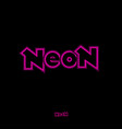neon logo abstract sign pink light vector image vector image