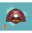 Paintball logo skul protection mask Heraldic vector image vector image