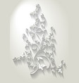 paper floral branch in cut of paper style vector image vector image
