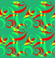 pattern from colored doodles and curls in floral vector image vector image