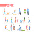 people - set of cartoon flat design style vector image vector image
