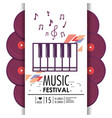 piano keyboard instrument to music festival vector image vector image