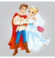 Prince And Princess Married vector image