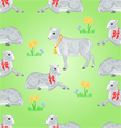 Seamless texture easter lamb and sheeps vector image vector image