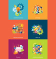 set of concepts for business and finance vector image vector image