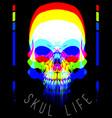 skull fashion tee graphic design vector image vector image