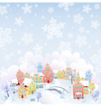 Snowing town vector image vector image