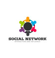 social network round table logo vector image vector image