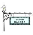 South Dakota retro pointer lamppost vector image vector image