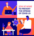 stay at home advice - flat design style vector image vector image