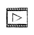 strip film play cinema movie symbol sketch vector image