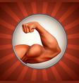 strong arm vector image vector image