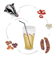 Sweet Iced Coffee with Civet Coffee Beans vector image vector image