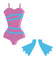 swimsuit hand drawn design on white background vector image vector image
