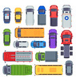 top view public transport taxi car city buses vector image