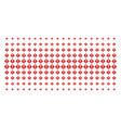 warning shape halftone grid vector image vector image