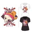 Woman T Shirt Print Design Composition vector image