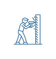 work as a drill line icon concept work as a drill vector image vector image