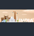 travel banner to india flat vector image